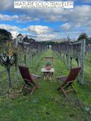 Mature Solo Traveler on Wine and Food Tour with Cradlecoast Tours in Tasmania